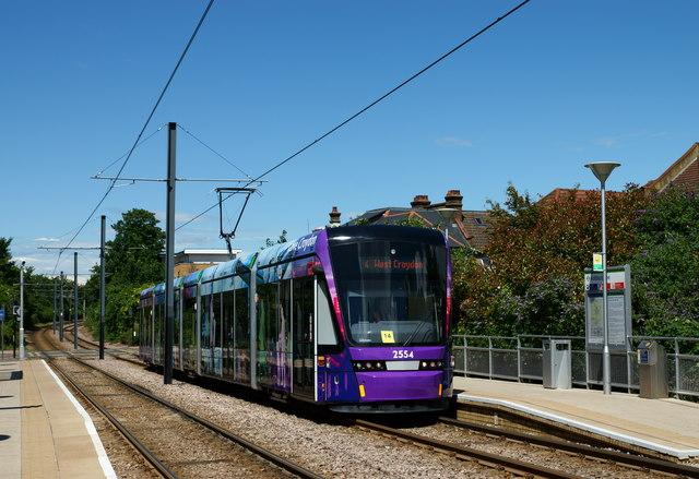 Stadler Variobahn Tram at Addiscombe