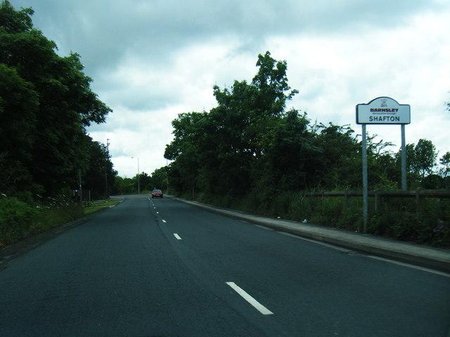 A628 at Shafton boundary