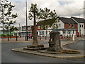 SD5321 : Village Cross and Jubilee Fountain by David Dixon