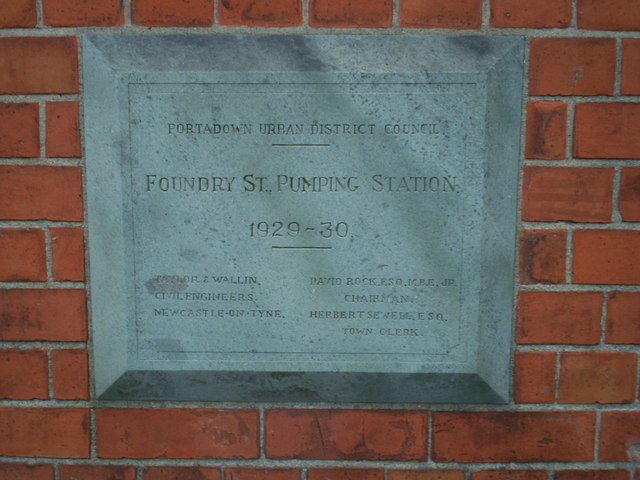 Plaque at Pumping Stations