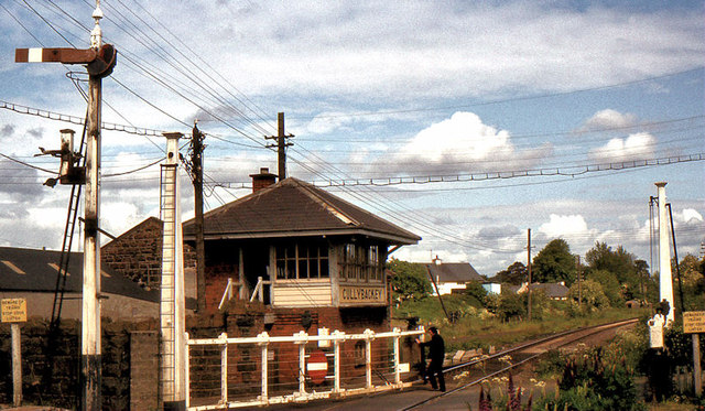 Level crossing, Cullybackey station