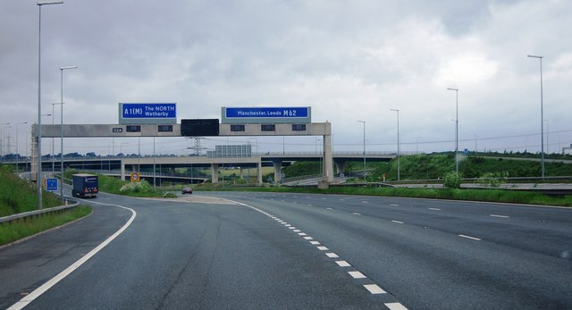 junction 32a m62 169 n chadwick geograph britain and ireland