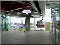 TQ3979 : Cable Car Terminus at North Greenwich by Christine Matthews