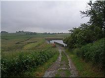 SE1241 : Bridleway at the reservoir near Lane Head by John Slater