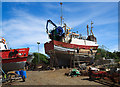 W0831 : A hive of industry in the boatyard at Oldcourt by Mike Searle