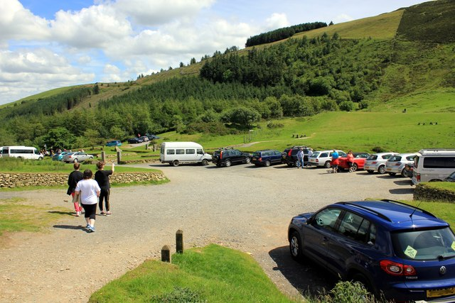 The Car Park at Moel Famau Country Park
