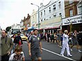 SZ1191 : Boscombe, torch relay bearer (2) by Mike Faherty