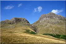 NY2807 : Harrison Stickle, from the path up next to Dungeon Ghyll by Christopher Hilton