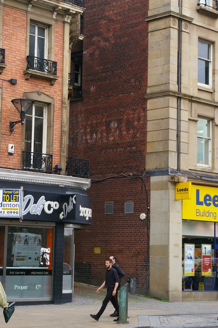 Ghost-sign, Pinstone Street, Sheffield