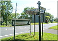 ST3862 : Old-style signpost at the northern end of West Rolstone Road near Weston-super-Mare by Jaggery