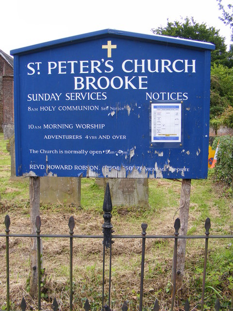 St.Peter's Church sign