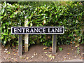 TM2999 : Entrance Lane sign by Adrian Cable