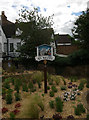 TL1860 : Town sign, Jubilee Gardens, St Neots by Jim Osley