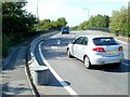ST3762 : B3440 bridge over the A370, Weston-super-Mare by Jaggery