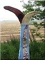 NJ8914 : Millennium milepost by Richard Webb