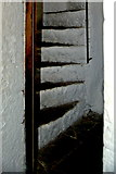 R4560 : Bunratty Castle - Spiral Staircase in Northwest Tower by Joseph Mischyshyn