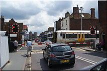 TR1458 : Level crossing on St Dunstan's Street by Bill Boaden