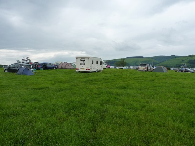 A temporary campsite at New House Farm