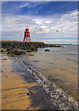 NZ3668 : Groyne Lighthouse by ROB DEYES