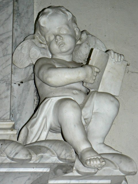 Cherub, Packer Monument, Church of St Faith, Church Street, Shellingford (2)