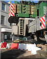 SX9373 : Back of hydraulic crane, Fore Street bridge works by Robin Stott