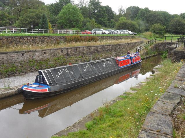 Working Narrow Boat Hadar moored in Bugsworth Upper Basin