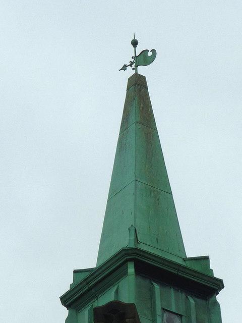 Weather vane, Lancaster Methodist Church steeple