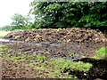 SO3609 : Dung heap near the old Abergavenny to Raglan road west of Clytha Park by Jaggery