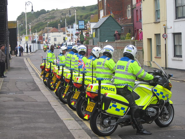 Police Outriders, Day 61 Olympic Torch Relay
