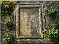 NN6207 : Mural tablet in ruined chapel by Lairich Rig