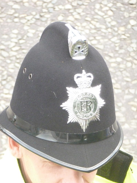 Ensbury Park: a Dorset Police helmet
