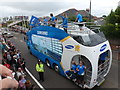 SZ0894 : Ensbury Park: the Olympic torch relay arrives by Chris Downer