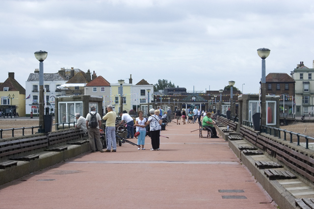 Promenading and fishing, Deal Pier