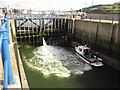 NX9718 : Whitehaven Sea Lock (2) by Graham Robson