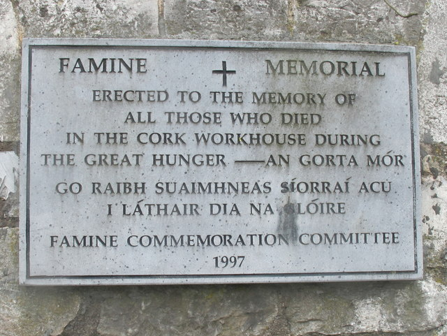 Famine Memorial At The Site Of Cork 169 David Hawgood Cc
