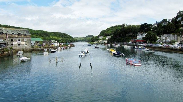 Looking Up The River Looe