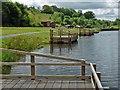 ST1097 : Fishing platforms, Taff Bargoed Community Park by Robin Drayton