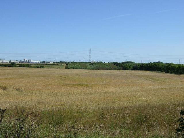 Farmland near the A189