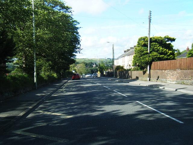 A4061 looking north in Bryncoch