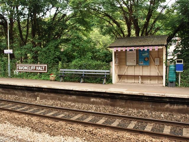 The shelter on the Down Platform at Avoncliff Halt