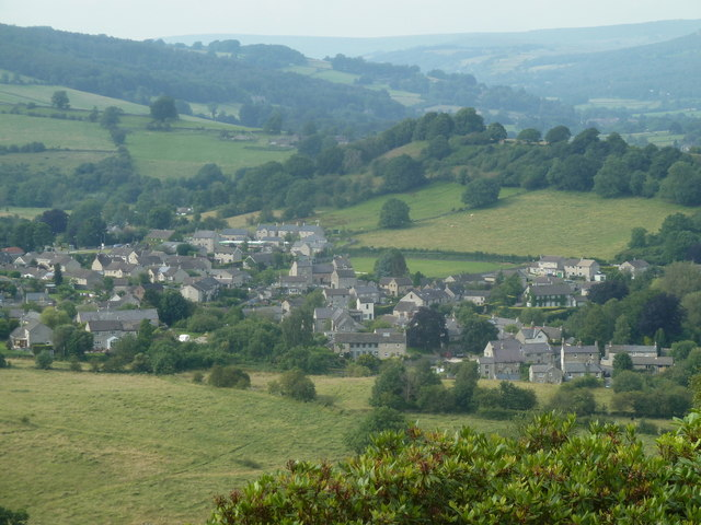 View of Calver from Bramley Wood