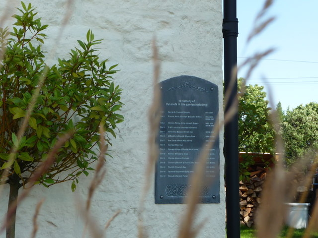 Plaque on the converted chapel in Penallt