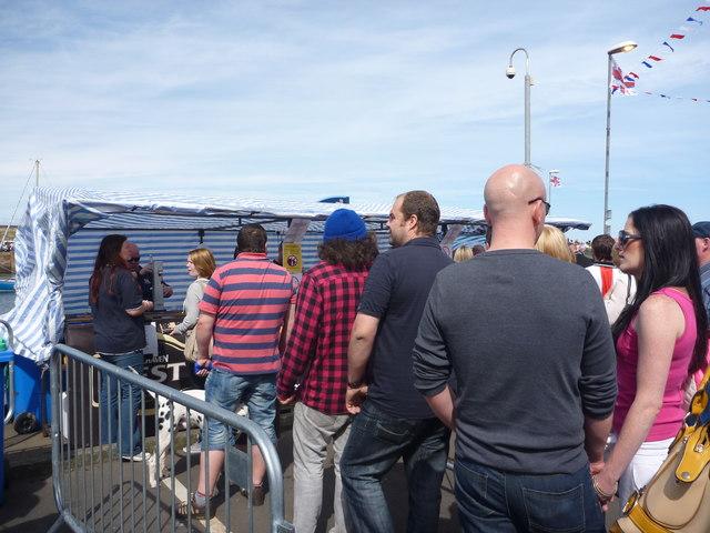 Dunbar Lifeboat Day - 21st July 2012 : Queueing At The Bar