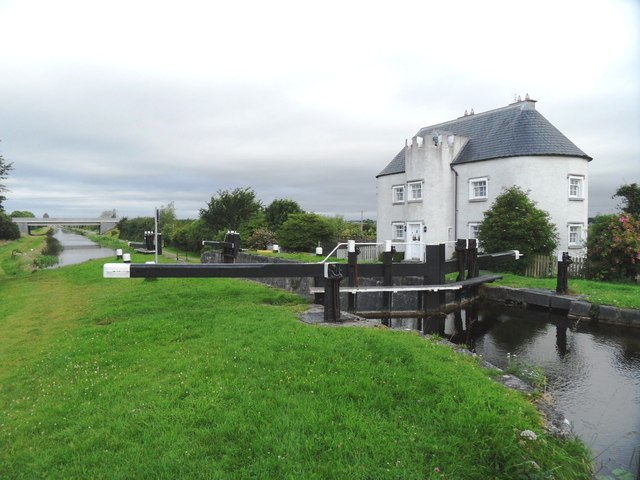 26th lock on the Grand Canal, east of Tullamore, Co. Offaly
