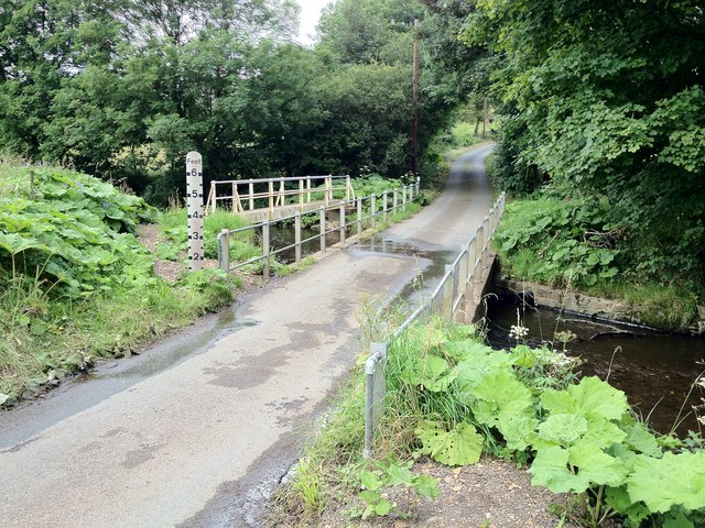 Ford and Footbridge at Winkhill