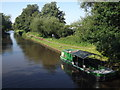 TQ0563 : Barge on the River Wey Navigation by Colin Smith