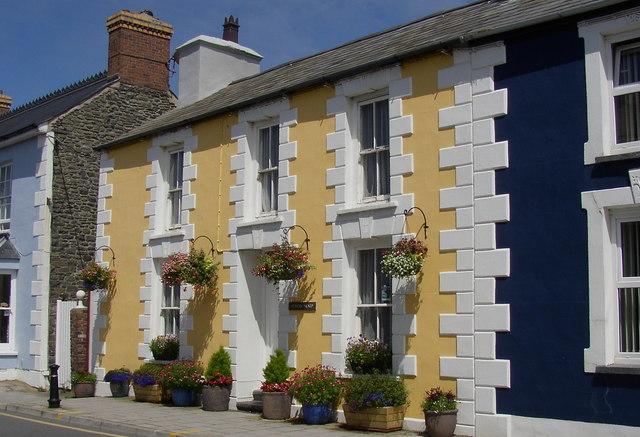 A beautifully painted house in the town
