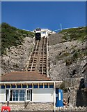 SZ0990 : East Cliff Lift by Paul Gillett