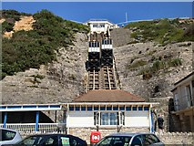SZ0990 : East cliff Lift in action by Paul Gillett