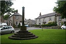 SK1971 : Village Cross, Great Longstone by Dave Dunford